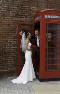 Bride and Groom – Phone Box