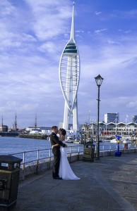 Bride Groom and Tower