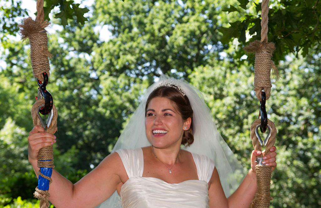 Bride on Swing