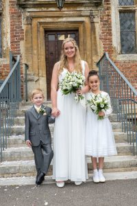 Bride with Bridesmaid and Pageboy